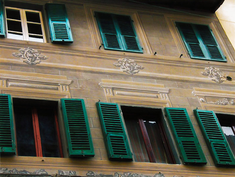 Restauri Pittorici facciata trompe oeil
