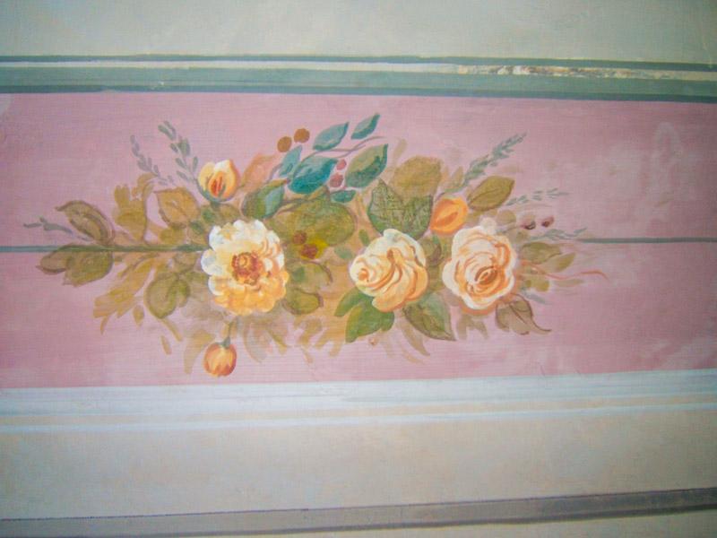 Restauri Pittorici cornice fiori