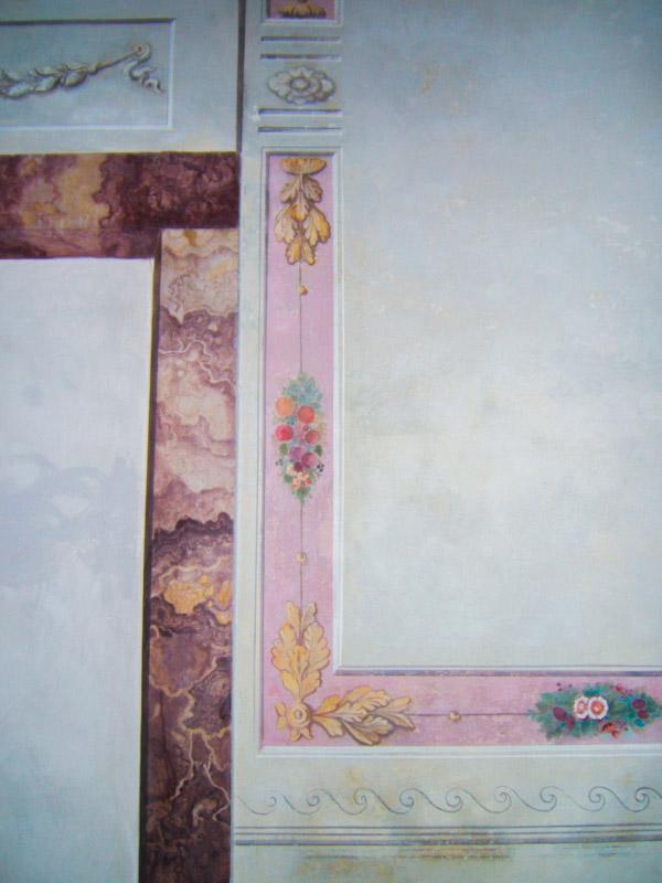 Restauri Pittorici cornice finto marmo