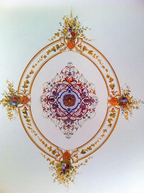 Restauri Pittorici particolare decorazione soffitto
