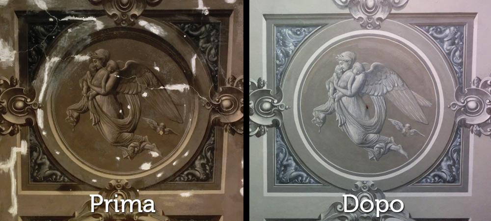 Restauri Pittorici particolare trompe oeil