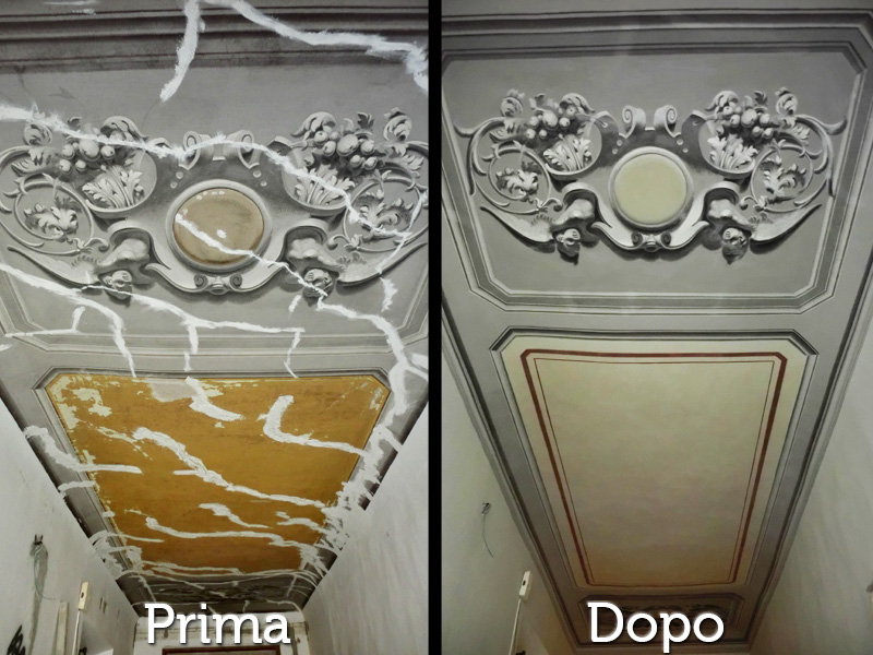Restauri Pittorici decorazione soffitto