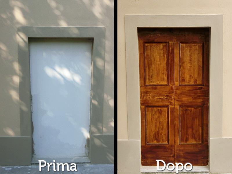 Restauri Pittorici decorazione artistica come legno