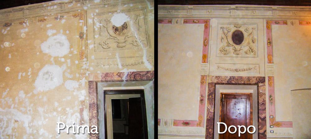 Restauri Pittorici porta e parete affrescata